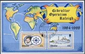 Gibraltar, michel blok 11, o