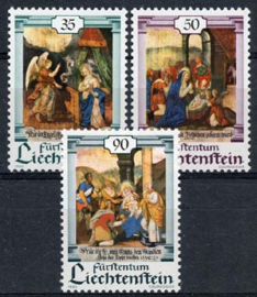 Liechtenstein, michel 1005/07, xx