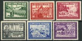 Duitse Rijk, michel 773/78, xx