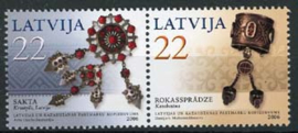 Letland, michel 672/73, xx