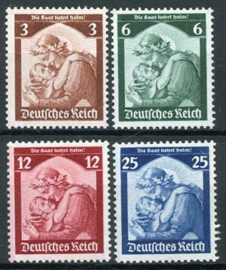 Duitse Rijk, michel 565/68, xx