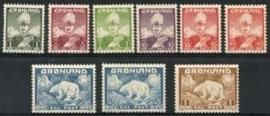 Groenland, michel 1/7 + 26/27 , xx