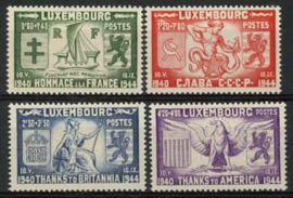 Luxemburg, michel 343/46, xx