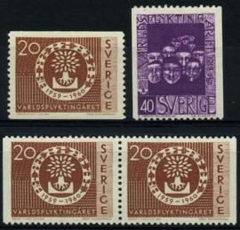 Zweden, michel 457/58,xx
