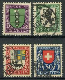 Zwitserland, michel 214/17, o
