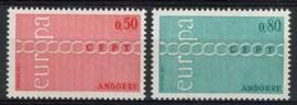Andorra Sp., michel 232/33, xx