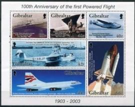 Gibraltar , michel blok 54 , xx