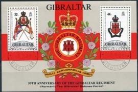 Gibraltar, michel blok 12, o