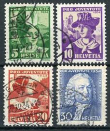 Zwitserland, michel 281/84, o