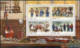 Ierland, michel blok 75 met opdruk Stampa