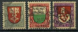 Zwitserland, michel 149/51, o