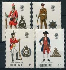 Gibraltar, michel 229/32, xx