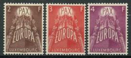 Luxemburg, michel 572/74, xx + cert.
