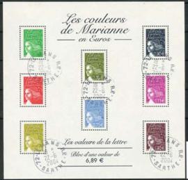 Frankrijk, michel kb 3557+73+3709/14, o