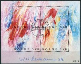 Noorwegen, michel blok 11, o