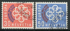 Zwitserland, michel 681/82, o