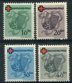 Rheinland-Pfalz, michel 42/45, x