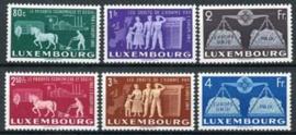 Luxemburg, michel 478/83, xx + cert.