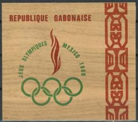 Gabon, michel blok 10, xx