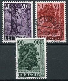 Liechtenstein, michel 377/79, o