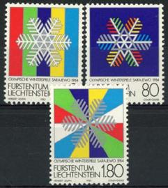 Liechtenstein, michel 834/36, xx