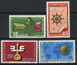 Zwitserland, michel 593/96, xx