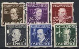 Oostenrijk, michel 632/37, o