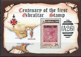 Gibraltar, michel blok 9, xx