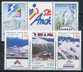 Andorra Fr., michel 446/50, xx