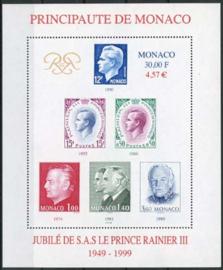 Monaco, michel blok 78, xx