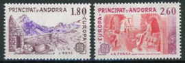 Andorra Fr., michel 334/35, xx