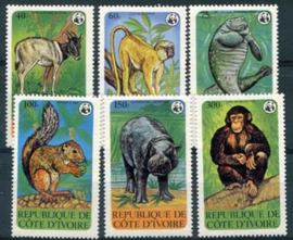 Ivoorkust, michel 620/25, xx