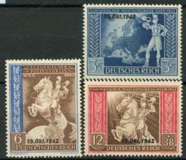 Duitse Rijk, michel 823/25, xx