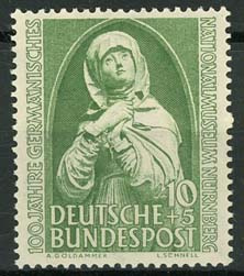 Bundespost, michel 151, xx