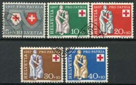 Zwitserland, michel 641/45, o