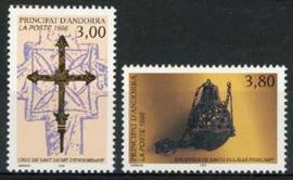 Andorra Fr., michel 495/96, xx