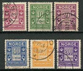 Noorwegen, michel P 7/12, o
