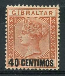 Gibraltar , michel 19 , (x)