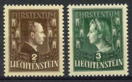Liechtenstein, michel 238/39, xx