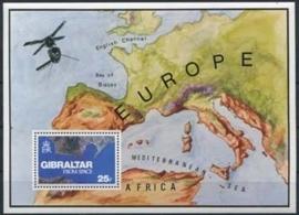 Gibraltar , michel blok 5 , xx