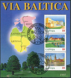 Letland, michel blok 5, o