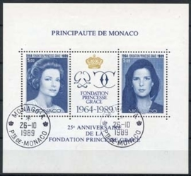 Monaco , michel blok 46 , o