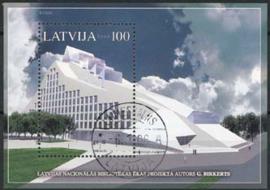 Letland, michel blok 19, o