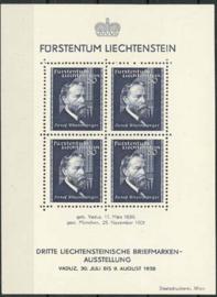 Liechtenstein, michel blok 3 , x