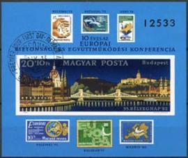 Hongarije, michel blok 159 B, o