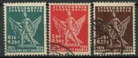 Joegoslavie, michel 275/77, o