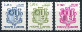 Andorra Sp., michel 319/22, xx