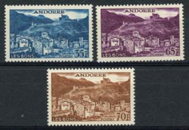 Andorra Fr., michel 161/63, xx