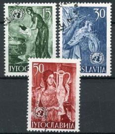 Joegoslavie, michel 714/16, o