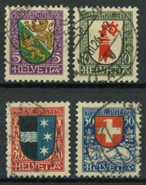 Zwitserland, michel 218/21, o